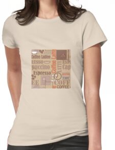 Texture of Coffee.Seamless Womens Fitted T-Shirt