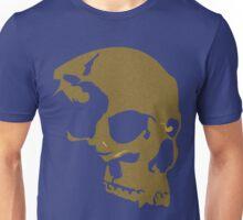 skull gold glitter silhouette simple art Unisex T-Shirt