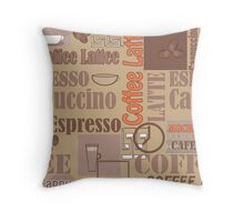 Texture of Coffee.Seamless Throw Pillow