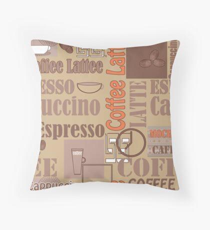 Texture of Coffee.Seamless Throw Pillow