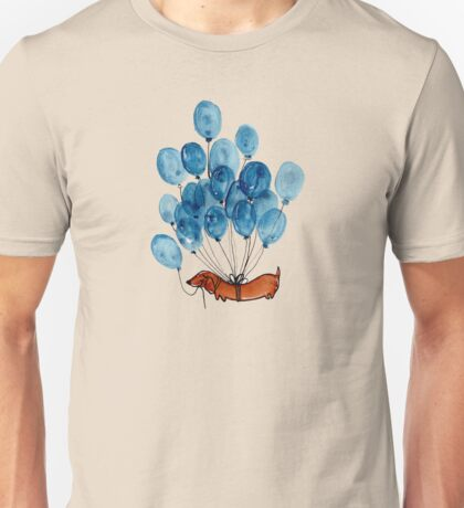 Dachshund dog and balloons Unisex T-Shirt