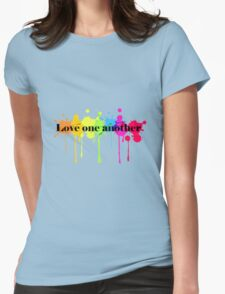 Love One Another Womens Fitted T-Shirt
