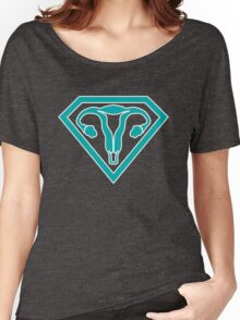 Uterus Hero Teal Women's Relaxed Fit T-Shirt