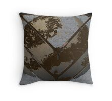 Metal Decay Three Throw Pillow