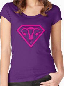 Uterus Hero Magenta Women's Fitted Scoop T-Shirt
