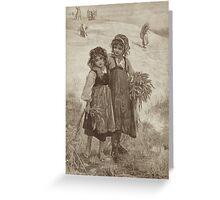 Harvest Girls Greeting Card