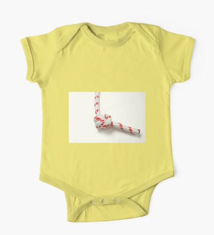 Double overhand knot AKA double granny knot on white background One Piece - Short Sleeve