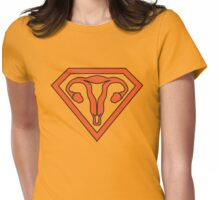 Uterus Hero Orange Womens Fitted T-Shirt