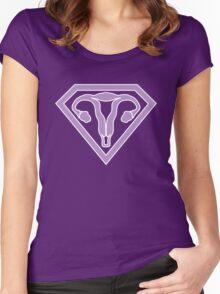 Uterus Hero Lavendar Women's Fitted Scoop T-Shirt