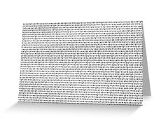 Alphabet Pattern Greeting Card