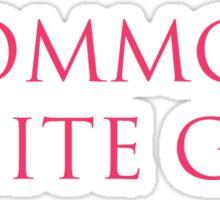 Common White Girl – Basic, Victoria's Secret Parody Sticker