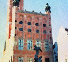 Gdansk old town in watercolor Sticker