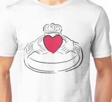 Claddagh Ring - A Token of Love Unisex T-Shirt