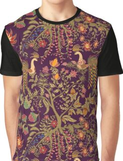 Chinese fairy floral seamless pattern with beautiful birds and tree Graphic T-Shirt