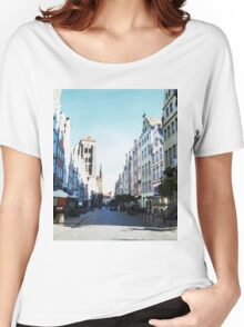 Gdansk old town in watercolor Women's Relaxed Fit T-Shirt