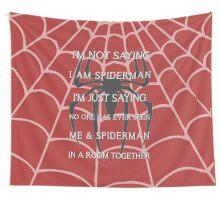 Half Spider - Half Man Wall Tapestry