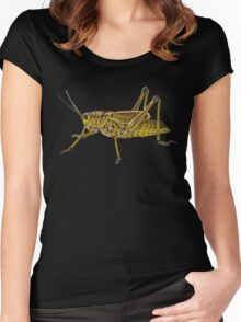 Locust Criquet Insect Isolated Women's Fitted Scoop T-Shirt