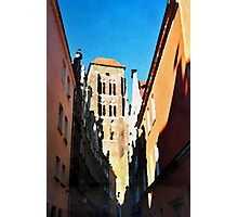 Gdansk old town in watercolor Photographic Print