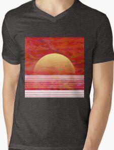 Sunset on the Sea Mens V-Neck T-Shirt
