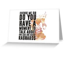Ragnaros-Game wordart Greeting Card
