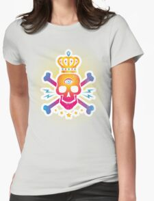 Skull with eye Womens Fitted T-Shirt