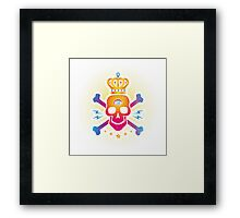 Skull with eye Framed Print