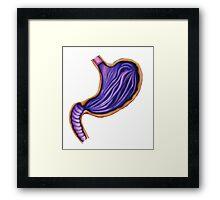 Purple stomach Framed Print