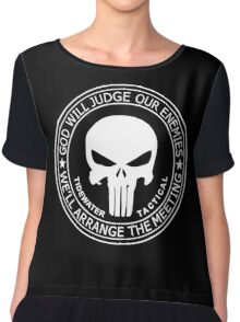 THE PUNISHER - GOD WILL JUDGE OUR ENEMIES Chiffon Top