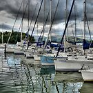 Yachts on Lake Windermere by Sarah Couzens
