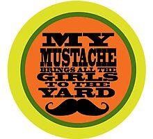 Mustache humor Photographic Print