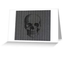 Skull on pinstripe Greeting Card