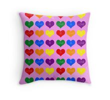 LOVE IS LOVE IS LOVE Hearts Pattern  Throw Pillow