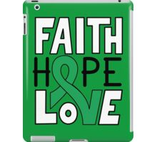 Faith Hope Love - Gallbladder/Bile Duct Cancer Awareness iPad Case/Skin