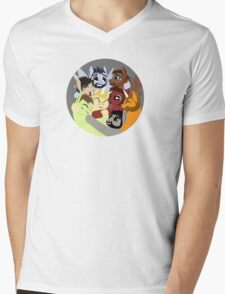 Hockey Ruining Ponies Hug Mens V-Neck T-Shirt