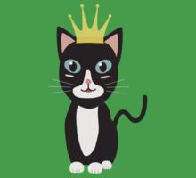 Cat with Crown   One Piece - Short Sleeve