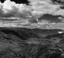 Giron Valley - BW Sticker