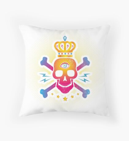 Skull with eye Throw Pillow