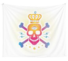 Skull with eye Wall Tapestry