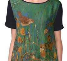 Winter Glimpse - Wren and Physalis Chiffon Top