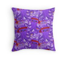 Kawaii Octopus Throw Pillow