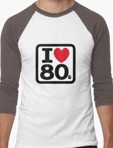 I love the 80's (eighties) Men's Baseball ¾ T-Shirt