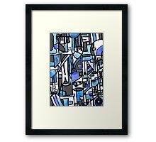 blu Framed Print