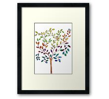 Tree with bird and cat Framed Print