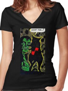 What The...? Women's Fitted V-Neck T-Shirt