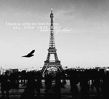 love quote, B+W #1 by stuckinacastle