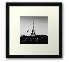 love quote, B+W #1 Framed Print