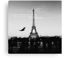 love quote, B+W #1 Canvas Print