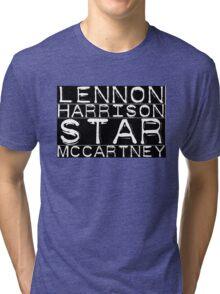 The Beatles Lennon Harrison Starr McCartney Tri-blend T-Shirt