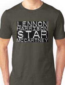 The Beatles Lennon Harrison Starr McCartney Unisex T-Shirt