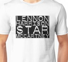 The Beatles Lennon Harrison Starr McCartney Unisex T-Shirt